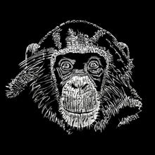 Load image into Gallery viewer, LA Pop Art Girl's Word Art Hooded Sweatshirt - Chimpanzee