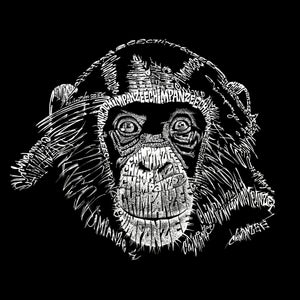 LA Pop Art Women's Premium Blend Word Art T-shirt - Chimpanzee
