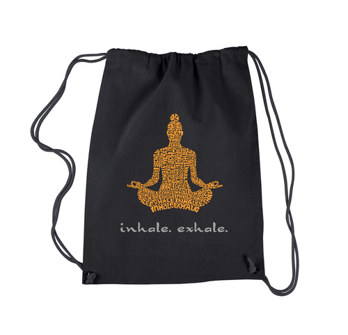 LA Pop Art Drawstring Backpack - Inhale Exhale