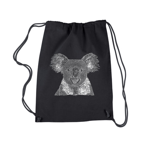 LA Pop Art Drawstring Backpack - Koala