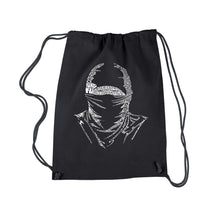 Load image into Gallery viewer, LA Pop Art Drawstring Backpack - NINJA