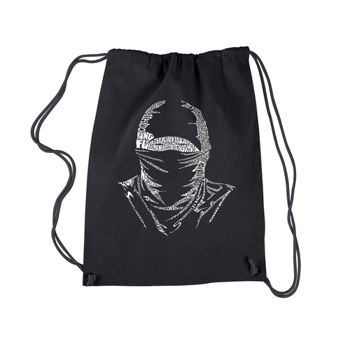 LA Pop Art Drawstring Backpack - NINJA