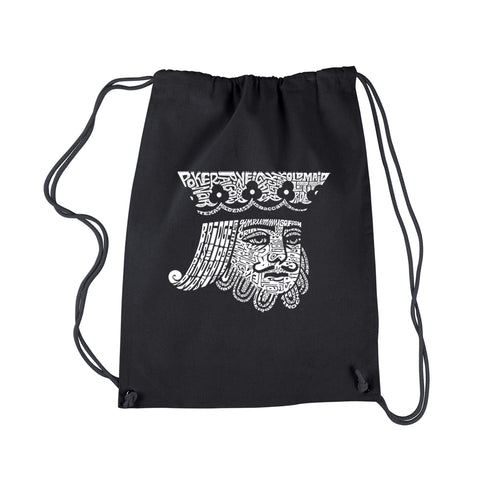 LA Pop Art Drawstring Backpack - King of Spades