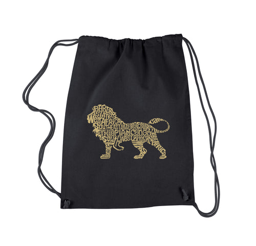 LA Pop Art Drawstring Backpack - Lion