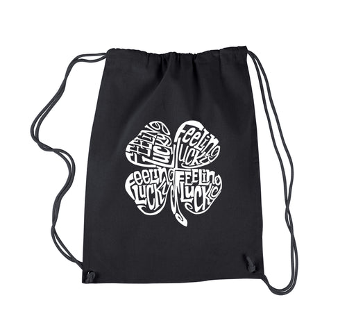 LA Pop Art Drawstring Backpack - Feeling Lucky