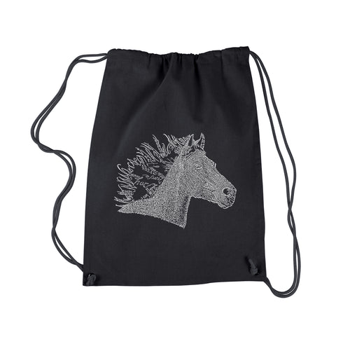 LA Pop Art Drawstring Backpack - Horse Mane