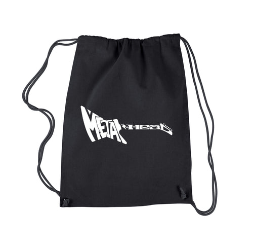 LA Pop Art Drawstring Backpack - Metal Head