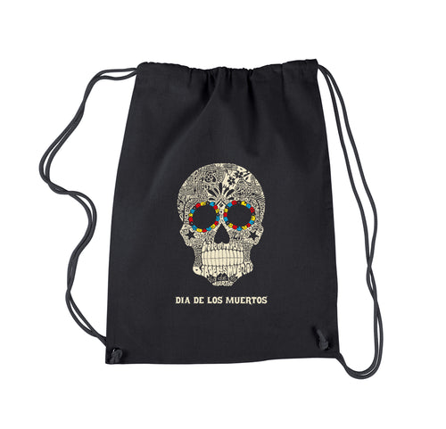 LA Pop Art Drawstring Backpack - Dia De Los Muertos