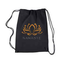 Load image into Gallery viewer, LA Pop Art Drawstring Backpack - Namaste