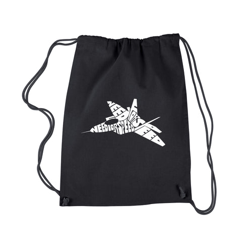 LA Pop Art Drawstring Backpack - FIGHTER JET - NEED FOR SPEED