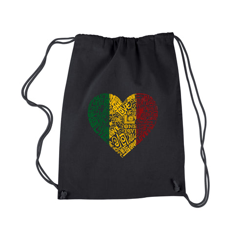 LA Pop Art  Drawstring Backpack - One Love Heart