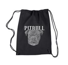 Load image into Gallery viewer, LA Pop Art Drawstring Backpack - Pitbull Face