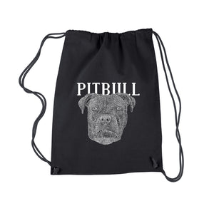 LA Pop Art Drawstring Backpack - Pitbull Face