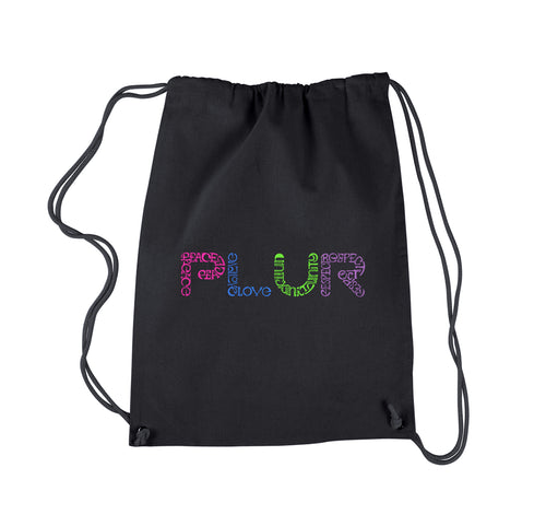 LA Pop Art  Drawstring Backpack - PLUR