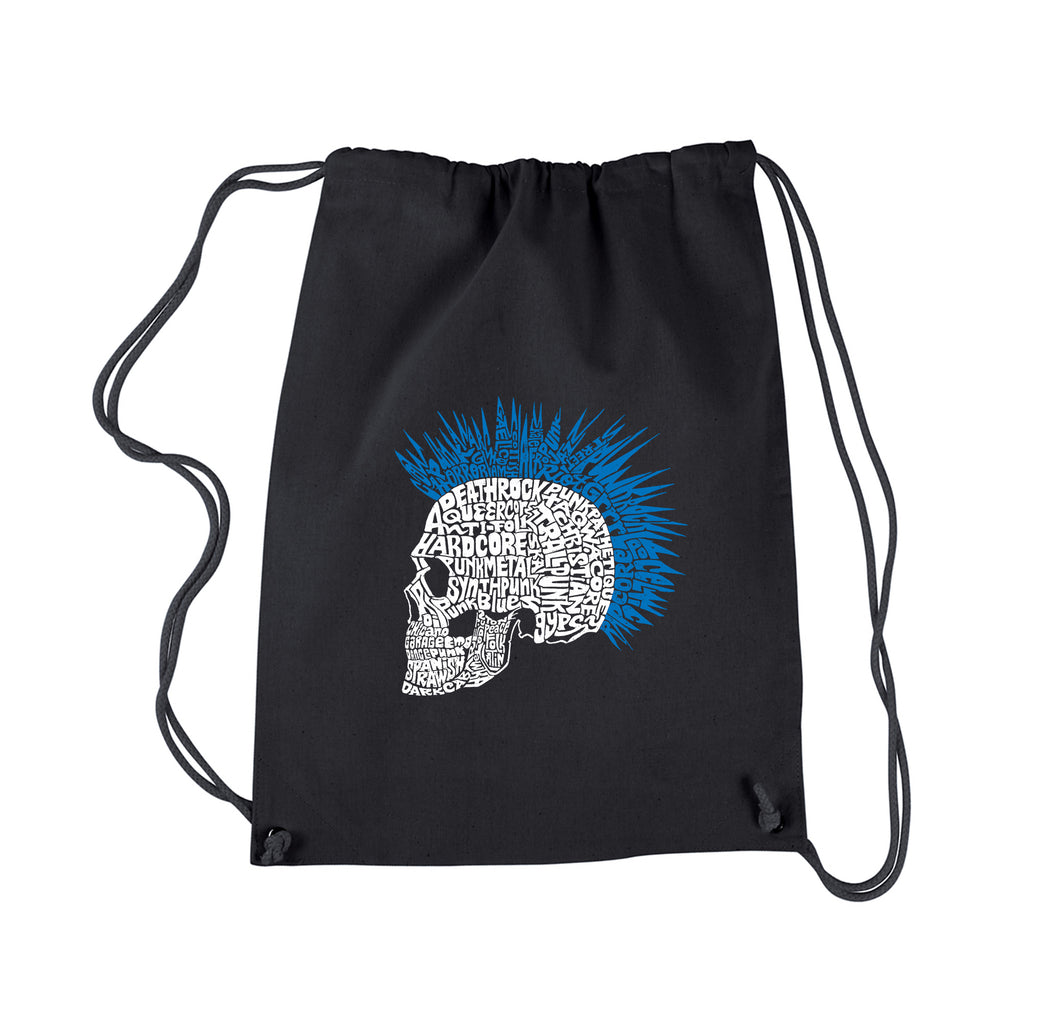 LA Pop Art Drawstring Backpack - Punk Mohawk