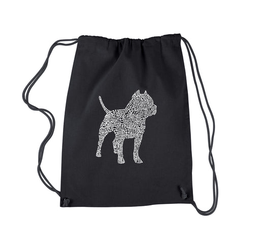 LA Pop Art  Drawstring Backpack - Pitbull
