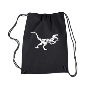 LA Pop Art Drawstring Backpack - Velociraptor