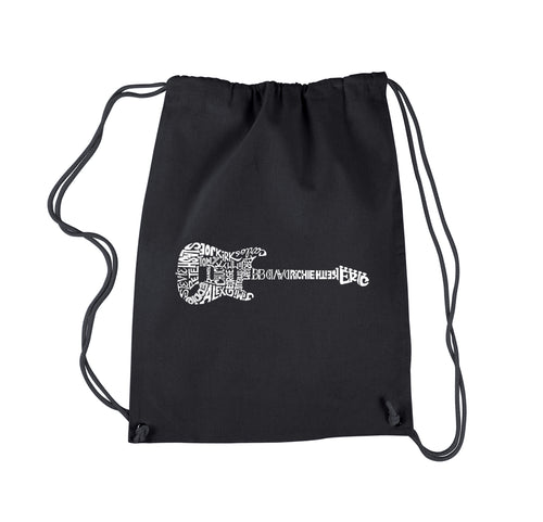 LA Pop Art  Drawstring Backpack - Rock Guitar