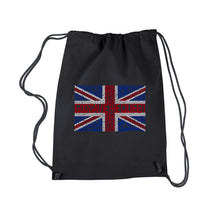 Load image into Gallery viewer, LA Pop Art Drawstring Backpack - God Save The Queen