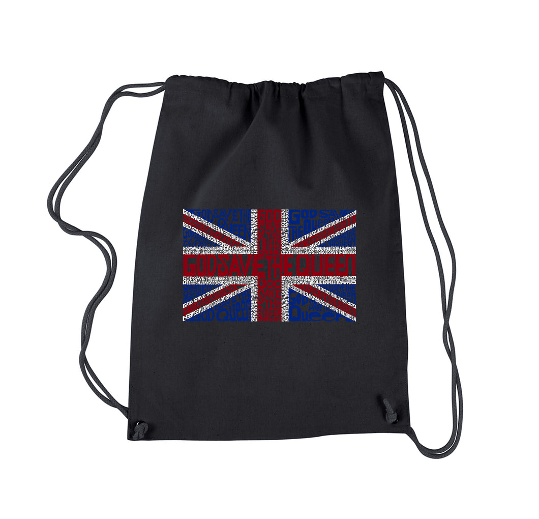 LA Pop Art Drawstring Backpack - God Save The Queen