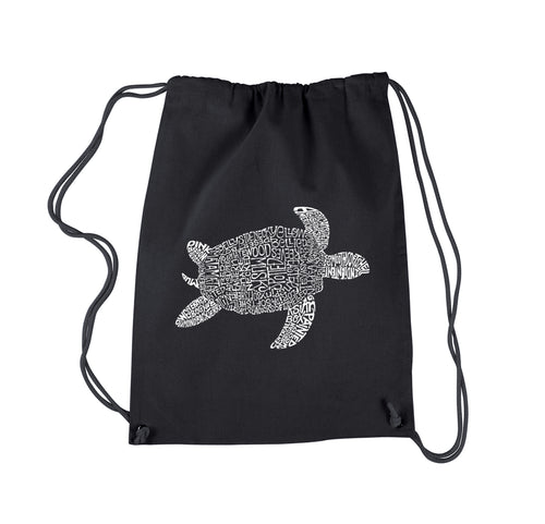LA Pop Art Drawstring Backpack - Turtle