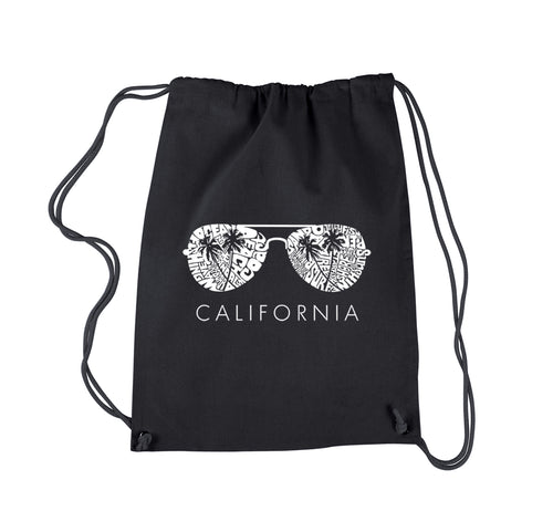 LA Pop Art Drawstring Backpack - California Shades