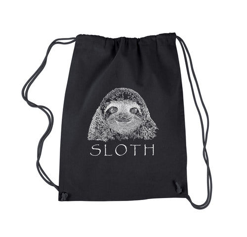 LA Pop Art Drawstring Backpack - Sloth
