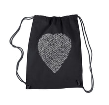 Load image into Gallery viewer, LA Pop Art Drawstring Backpack - WILLIAM SHAKESPEARE'S SONNET 18
