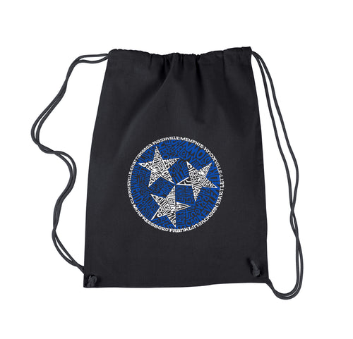LA Pop Art Drawstring Backpack - Tennessee Tristar