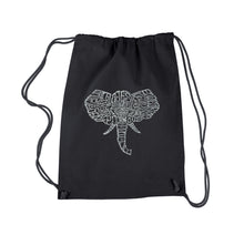 Load image into Gallery viewer, LA Pop Art Drawstring Backpack - Tusks