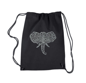 LA Pop Art Drawstring Backpack - Tusks