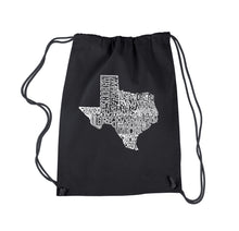 Load image into Gallery viewer, LA Pop Art Drawstring Backpack - The Great State of Texas