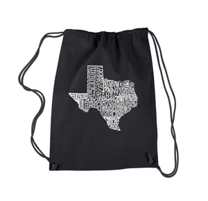 LA Pop Art Drawstring Backpack - The Great State of Texas