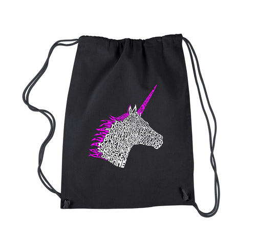 LA Pop Art Drawstring Backpack - Unicorn