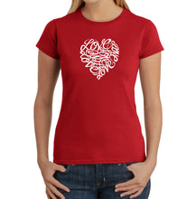 Load image into Gallery viewer, LA Pop Art Women's Word Art T-Shirt - LOVE