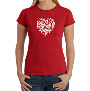 LA Pop Art Women's Word Art T-Shirt - LOVE