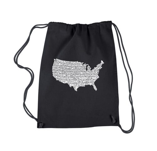 LA Pop Art Drawstring Backpack - THE STAR SPANGLED BANNER