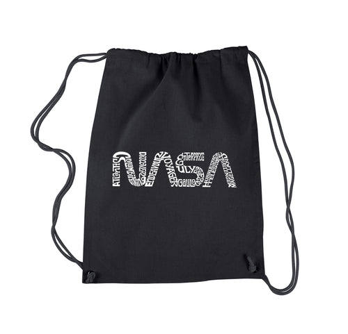 LA Pop Art Drawstring Backpack - Worm Nasa