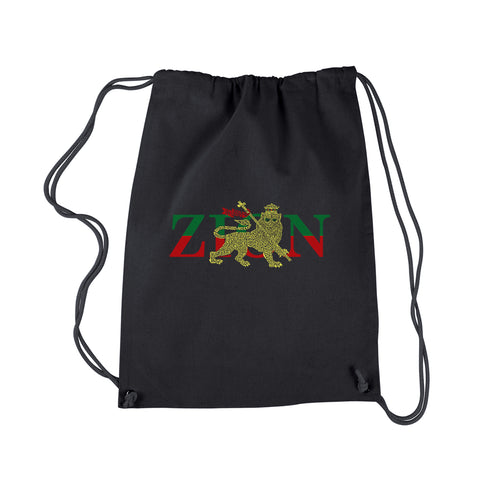 LA Pop Art Drawstring Backpack - Zion - One Love