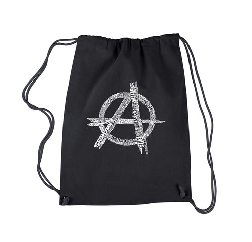 LA Pop Art Drawstring Backpack - GREAT ALL TIME PUNK SONGS