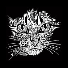 Load image into Gallery viewer, LA Pop Art Women's Premium Blend Word Art T-shirt - Cat Face
