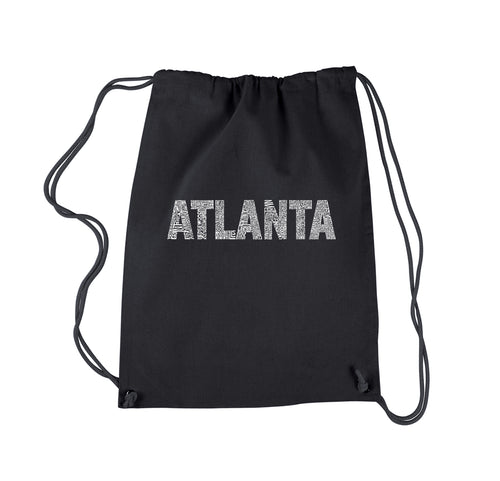 LA Pop Art Drawstring Backpack - ATLANTA NEIGHBORHOODS