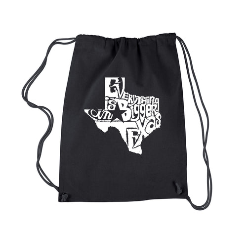 LA Pop Art Drawstring Backpack - Everything is Bigger in Texas