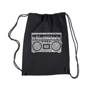LA Pop Art Drawstring Backpack - Greatest Rap Hits of The 1980's