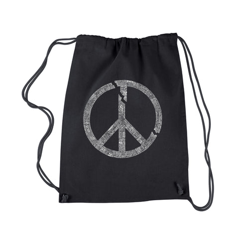 LA Pop Art Drawstring Backpack - EVERY MAJOR WORLD CONFLICT SINCE 1770