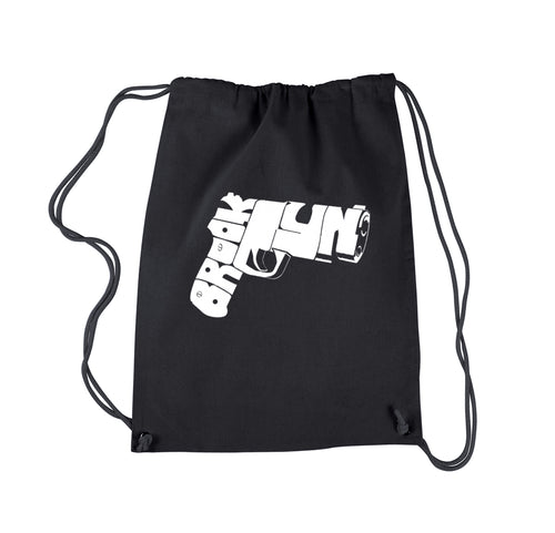 LA Pop Art Drawstring Backpack - BROOKLYN GUN