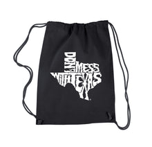 Load image into Gallery viewer, LA Pop Art Drawstring Backpack - DONT MESS WITH TEXAS