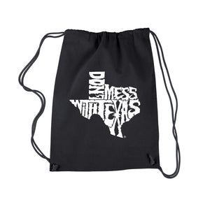LA Pop Art Drawstring Backpack - DONT MESS WITH TEXAS