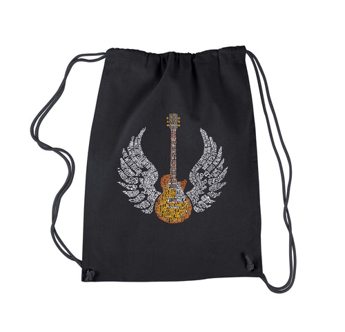 LA Pop Art Drawstring Backpack - LYRICS TO FREE BIRD