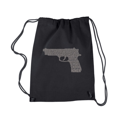 LA Pop Art Drawstring Backpack - RIGHT TO BEAR ARMS